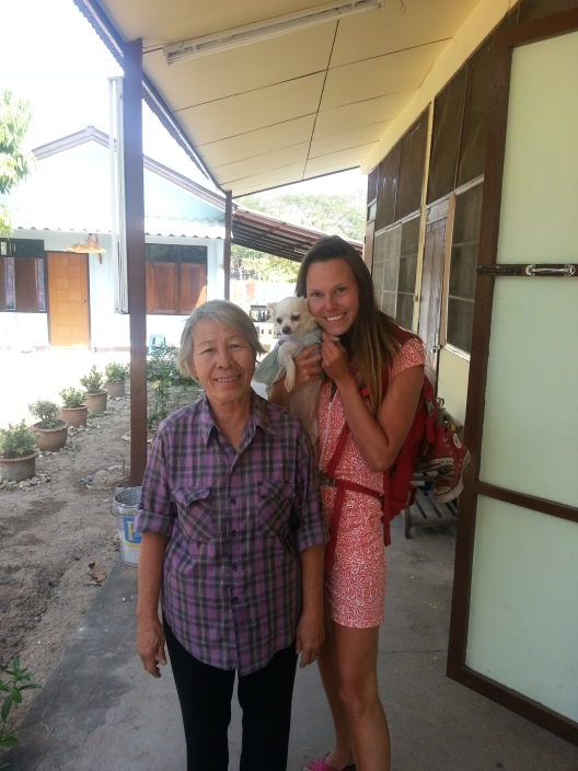 The elderly Thai woman who hosted the homestay with my friend Pernille