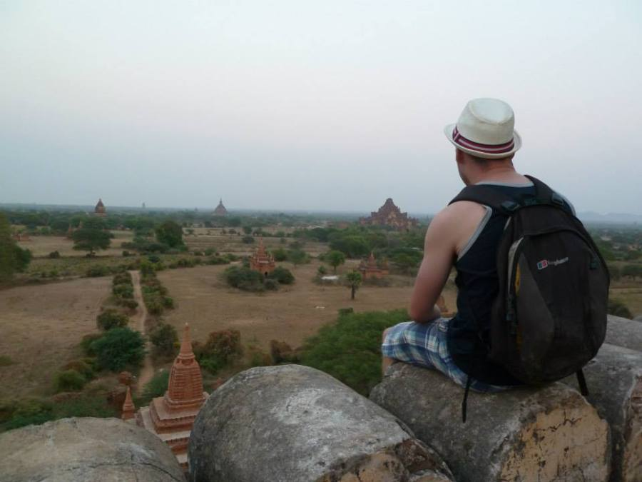 Overlooking the grounds of Bagan
