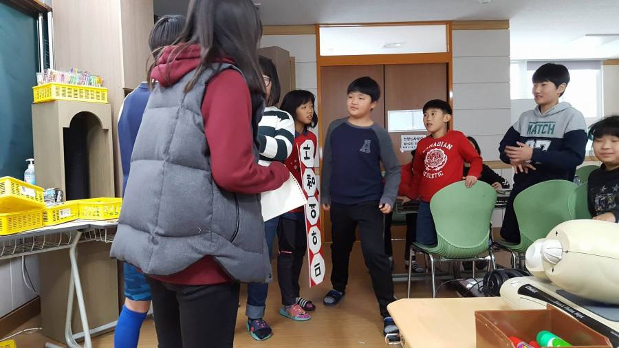A stand-off between students